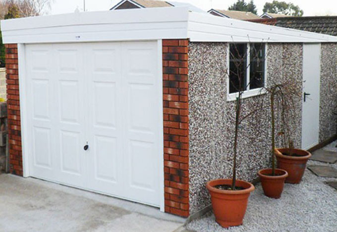 The Royale Garage Is Now Available In A Pent Roof White