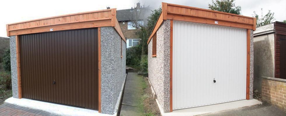 pent garages