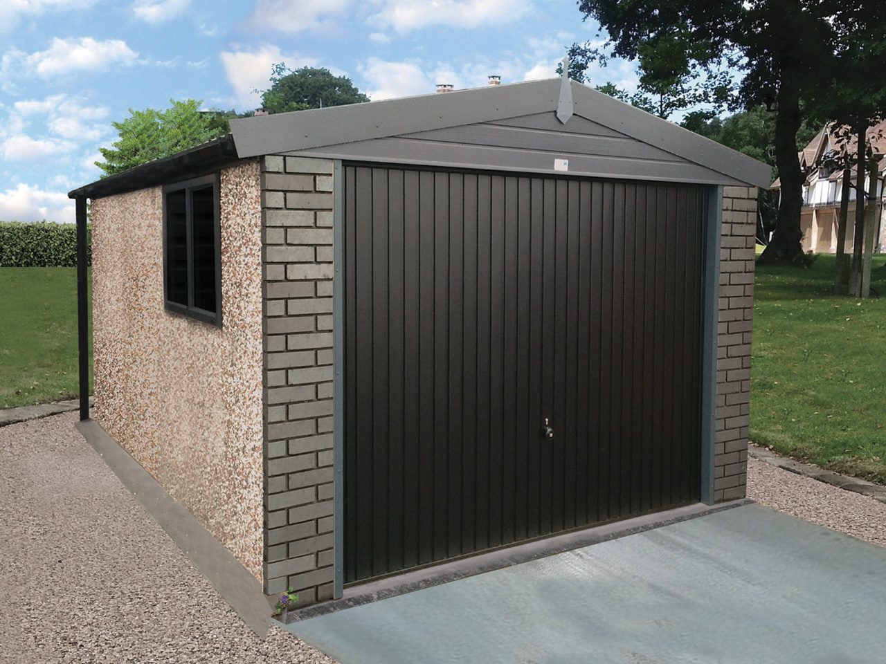 Graphite Concrete Garage