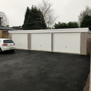 Triple Concrete Sectional Garage for Funeral cooperative