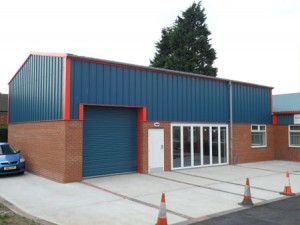 showroom steel building