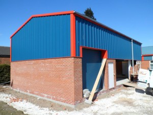 steel building for lawnmower shop