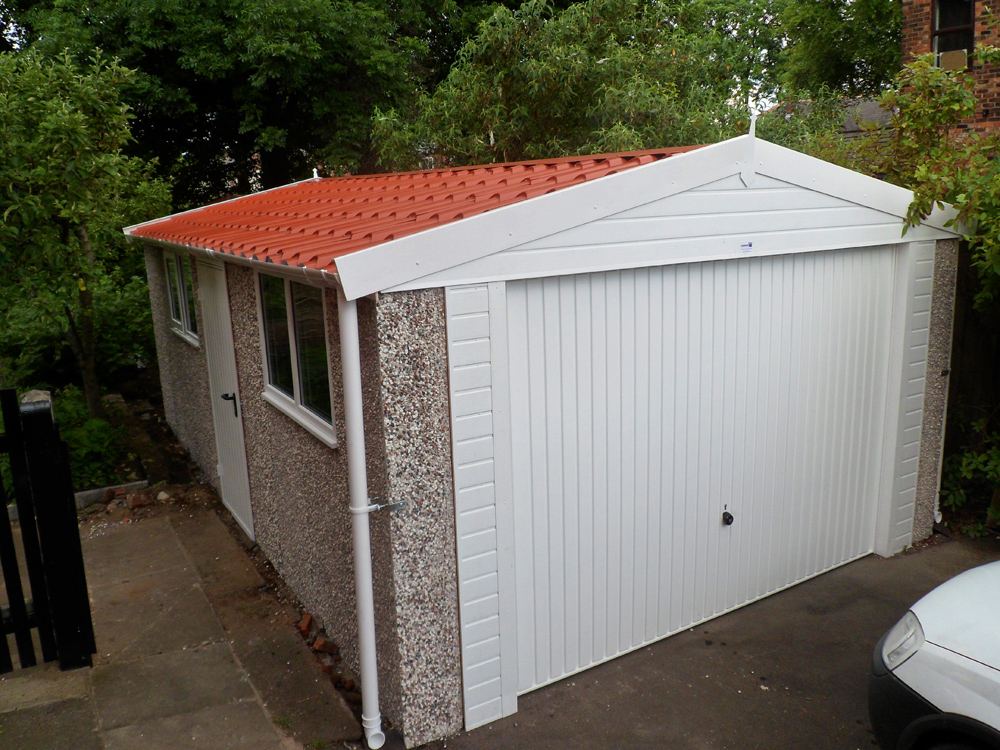 Apex Pvc Garage With Tiled Roof Project White Rose Buildings