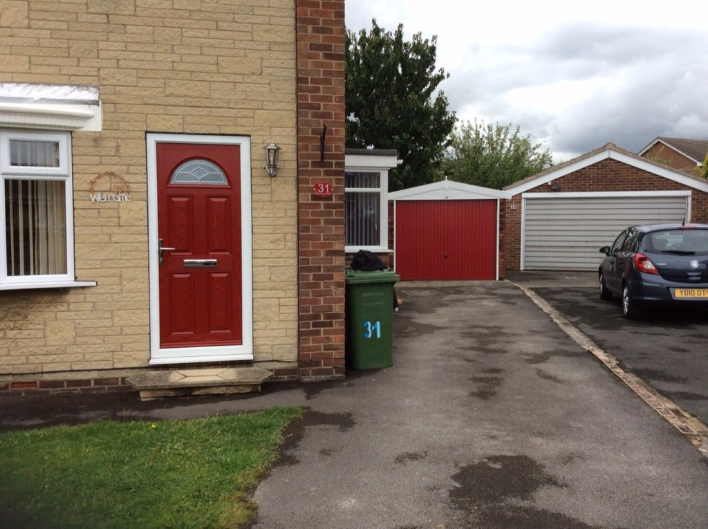 Apex Garage With Pvc Fascia S And A Red Door Project