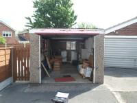 Standard Apex garage supplied with coloured door