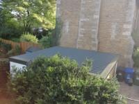 Re-roof double pent garage
