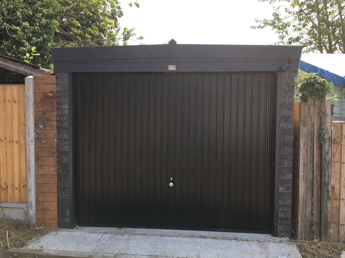 Pent Graphite Concrete Garage