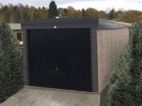 Pent Graphite Concrete Garage
