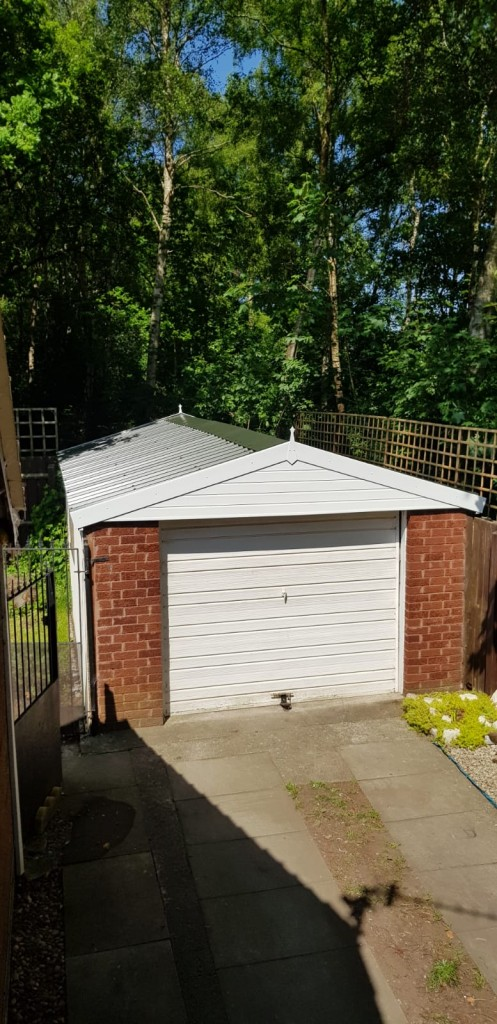 Garage Re Roof For Concrete Sectional Garage Project