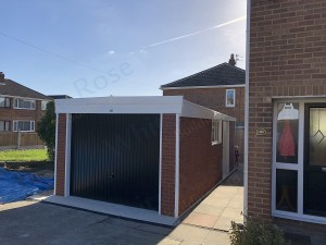 Brick Effect Sectional Garage
