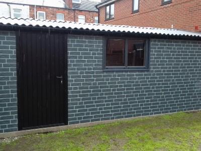 Brick Clad Garage