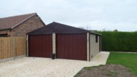 Brick Effect Garage
