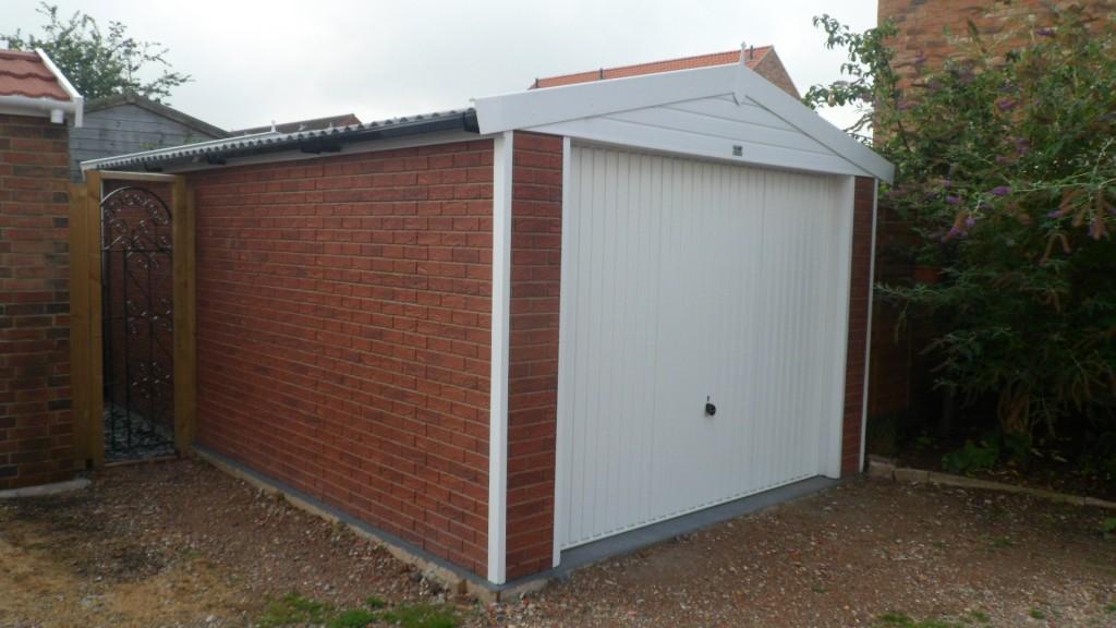 Brick Effect Garage